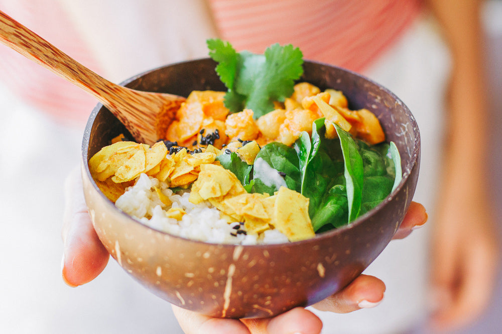 coconut turmeric vegan curry recipe