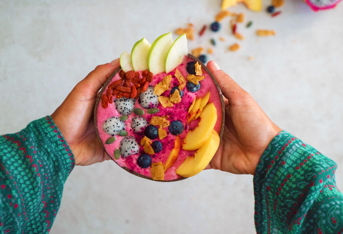 vegan pink pitaya bowl recipe