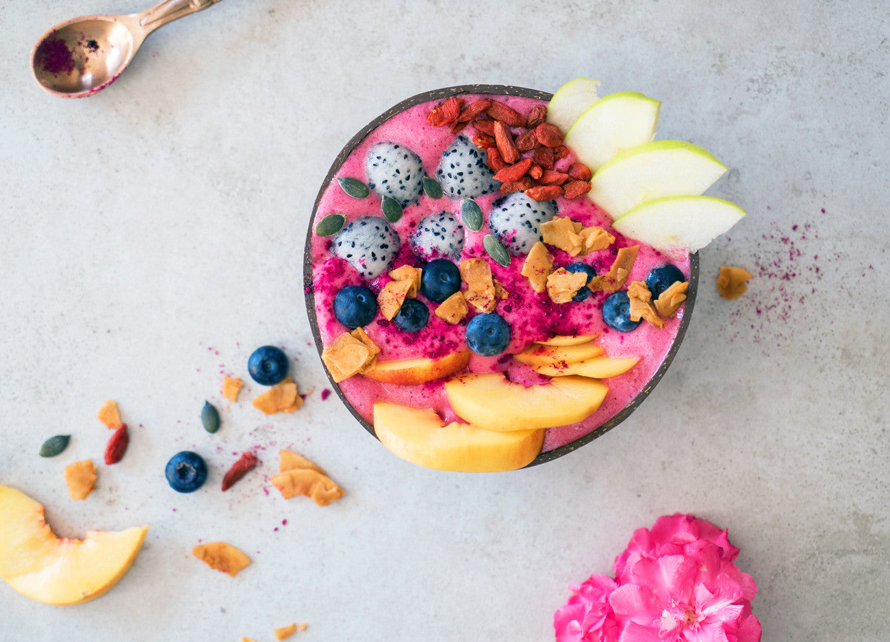 pink pitaya bowl recipe