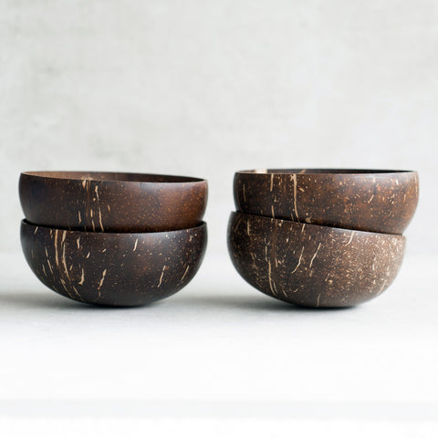 Four Coconut Bowls