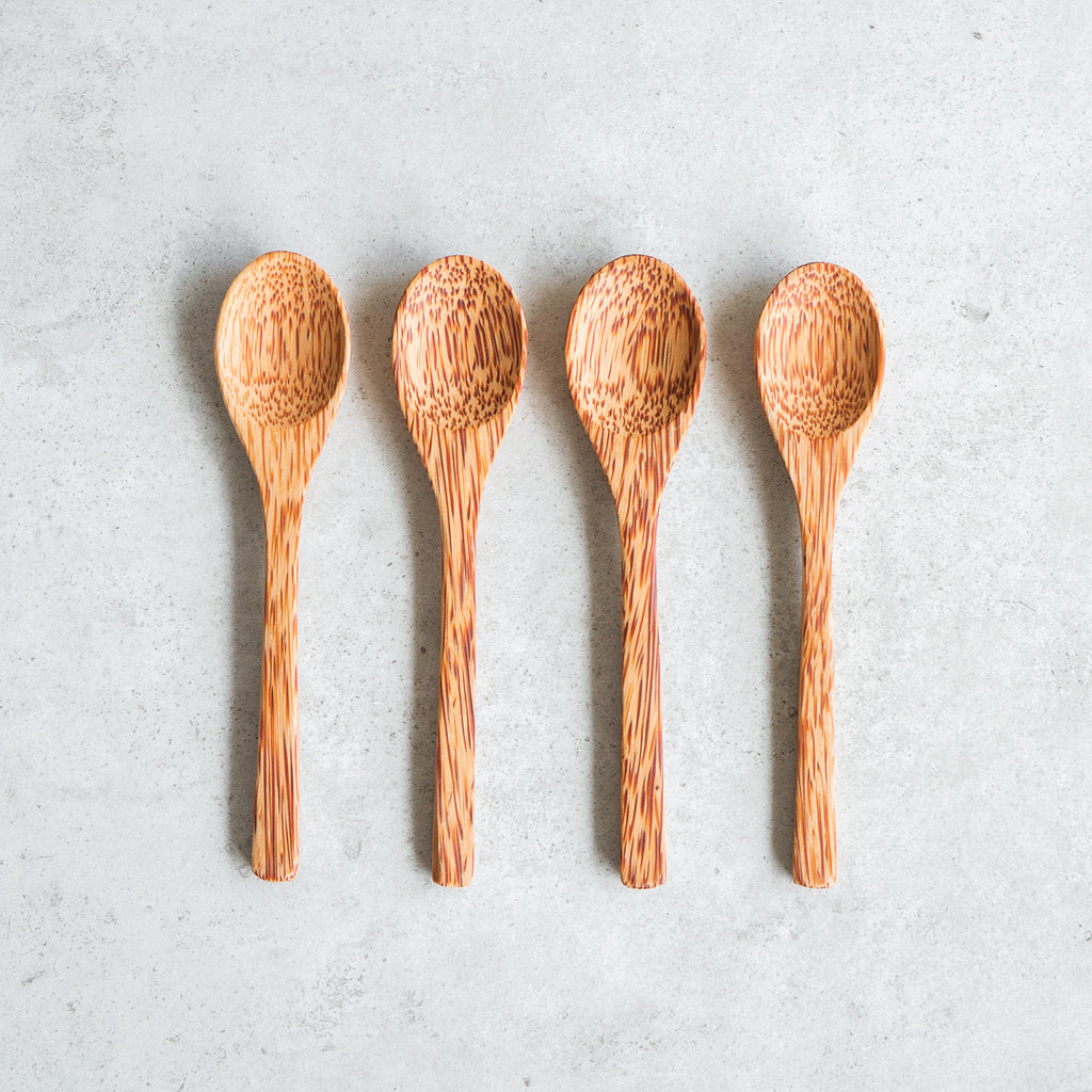 Four Coconut Spoons