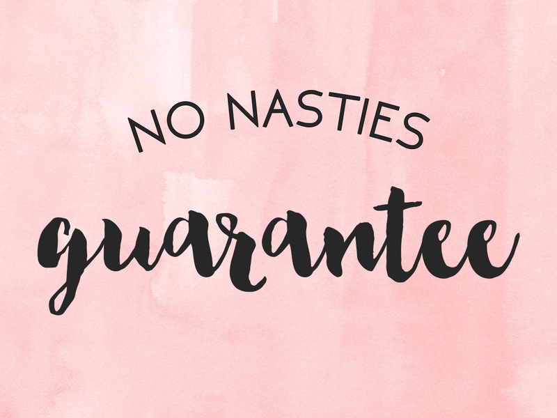 No nasties guarantee
