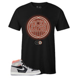 Men's Black Crew Neck KICKS GALORE T-shirt To Match Air Jordan Retro 1 High OG Hyper Crimson