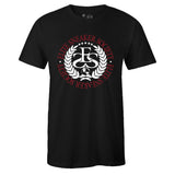 Men's Black Crew Neck ELITE SNEAKER SOCIETY T-shirt To Match Air Jordan Retro 1 OG Gym Red