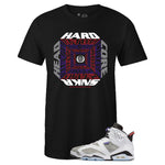 Men's Black Crew Neck Hardcore Sneakerhead T-shirt To Match Air Jordan Retro 6 Flint
