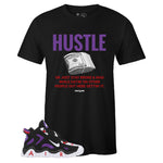 Men's Black Crew Neck HUSTLE Sneaker T-shirt To Match Nike Air Barrage Mid Raptors