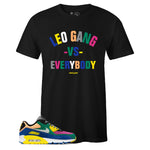 Men's Black Crew Neck LEO GANG T-shirt To Match Nike Air Max 90 Viotech 2.0