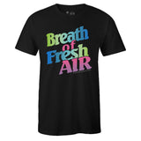 Men's Black Crew Neck BREATH OF FRESH AIR T-shirt To Match Air VaporMax Plus Aurora Green