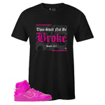 Black Crew Neck BROKE T-shirt to Match Ambush x Nike Dunk High Lethal Pink