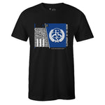 Men's Black Crew Neck ELEPHANT IN THE ROOM T-shirt to Match Air Jordan Retro 3 Blue Cement