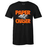Men's Black Crew Neck PAPER CHASER T-shirt to Match Air Jordan Retro 13 Starfish