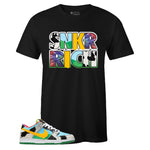 Men's Black Crew Neck SNKR RICH T-shirt to Match Nike SB Dunk Low Chunky Dunky