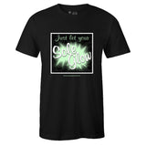 Men's Black Crew Neck SOLE GLOW T-shirt To Match Air Foamposite One All-Star