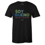 Men's Black Crew Neck SOY BUENO T-shirt To Match Air VaporMax Plus Aurora Green