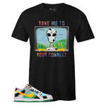 Men's Black Crew Neck CONNECT T-shirt to Match Nike SB Dunk Low Chunky Dunky