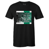 Men's Black Crew Neck TAKE OVER T-shirt to Match Air Jordan Retro 13 Lucky Green