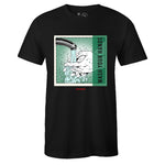 Men's Black Crew Neck Wash Your Hands T-shirt to Match Air Jordan Retro 1 OG Pine Green