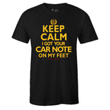 Men's Black Crew Neck KEEP CALM T-shirt To Match Air Jordan Retro 14 Reverse Ferrari