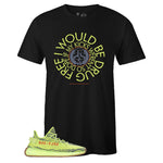 Men's Black Crew Neck DRUG FREE T-shirt to Match Yeezy Boost 350 V2 Semi Frozen Yellow Yerba