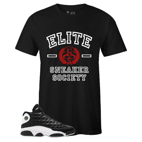 Men's Black Crew Neck ELITE T-shirt to Match Air Jordan Retro 13 Reverse He Got Game