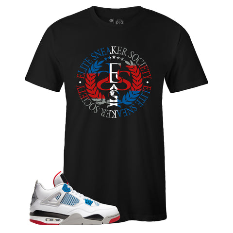Men's Black Crew Neck ELITE SNEAKER SOCIETY T-shirt To Match Air Jordan Retro 4 What The