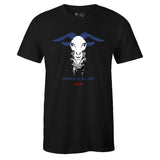 Men's Black Crew Neck GOAT T-shirt To Match Air Jordan Retro 4 WNTR Loyal Blue