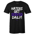 Men's Black Crew Neck HATERS GET SERVED DAILY T-shirt to Match Air Jordan Retro 11 CONCORD