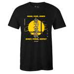 Men's Black Crew Neck MONEY POWER RESPECT T-shirt To Match Clearweather Interceptor Kill Bill