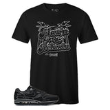 Men's Black Crew Neck MAX'N AND RELAXIN T-shirt To Match Air Max 1 Sketch To Shelf Black