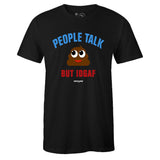 Men's Black Crew Neck PEOPLE TALK T-shirt To Match Air Jordan Retro 1 OG FEARLESS