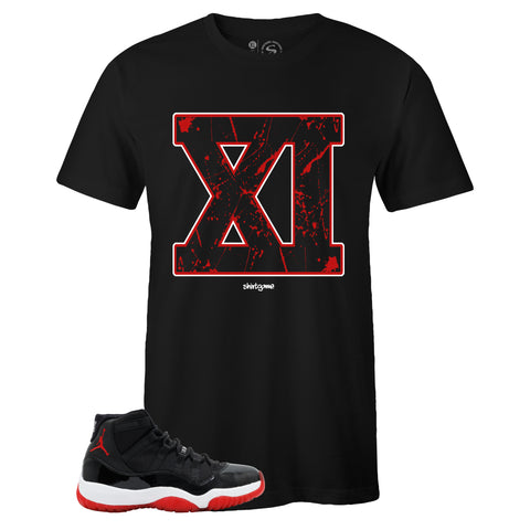 Men's Black Crew Neck XI T-shirt to Match Air Jordan Retro 11 Bred