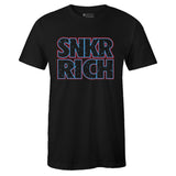 Men's Black Crew Neck SNKR RICH T-shirt To Match Air Jordan Retro 4 Travis Scott Oilers