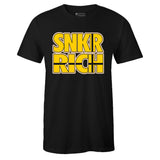 Men's Black Crew Neck SNKR RICH T-shirt To Match Clearweather Interceptor Kill Bill
