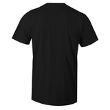 Men's Black Crew Neck SNKR RICH T-shirt To Match Air Jordan Retro 4 BRED