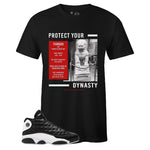Men's Black Crew Neck TIANGOU T-shirt to Match Air Jordan Retro 13 Reverse He Got Game