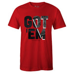 Men's Red Crew Neck GOT 'EM T-shirt to Match Air Jordan Retro 11 Bred