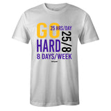 Men's White Crew Neck GO HARD T-shirt To Match Air Jordan Retro 13 Lakers