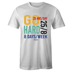 Men's White Crew Neck GO HARD T-shirt To Match Nike Air Max 270 React Bauhaus