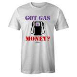 Men's White Crew Neck GAS MONEY Sneaker T-shirt To Match Nike Air Barrage Mid Raptors