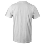 Men's White Crew Neck HUSTLE Sneaker T-shirt To Match Nike Air Barrage Mid Raptors