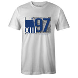 Men's White Crew Neck 1997 T-shirt to Match Air Jordan Retro 13 Flint