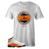 Men's White Crew Neck EXCUSES T-shirt to Match Air Jordan Retro 13 Starfish