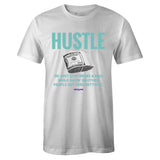 Men's White Crew Neck HUSTLE T-shirt To Match Air Jordan Retro 1 OG Turbo Green