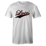 Men's White Crew Neck LIVIN' T-shirt to Match Air Jordan Retro 11 Concord Bred