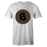 Men's White Crew Neck BITCOIN Sneaker T-shirt To Match Air Jordan Retro 1 Travis Scott