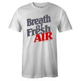 Men's White Crew Neck BREATH OF FRESH AIR T-shirt To Match Air Jordan Retro 12 White Dark Grey