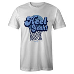 Men's White Crew Neck HEEL YEAH T-shirt To Match Air Jordan Retro 1 OG Obsidian UNC