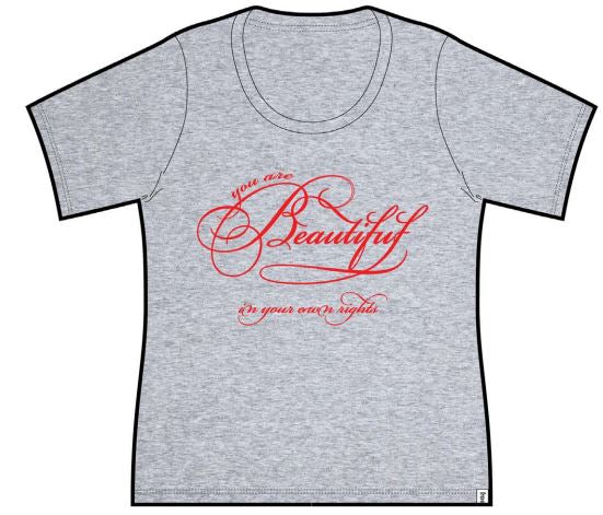Beautiful Ladies Short Sleeve Tee Gray