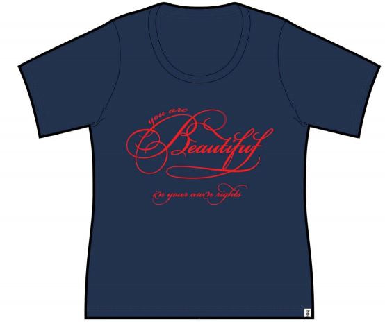 Beautiful Ladies Short Sleeve Tee Navy Blue