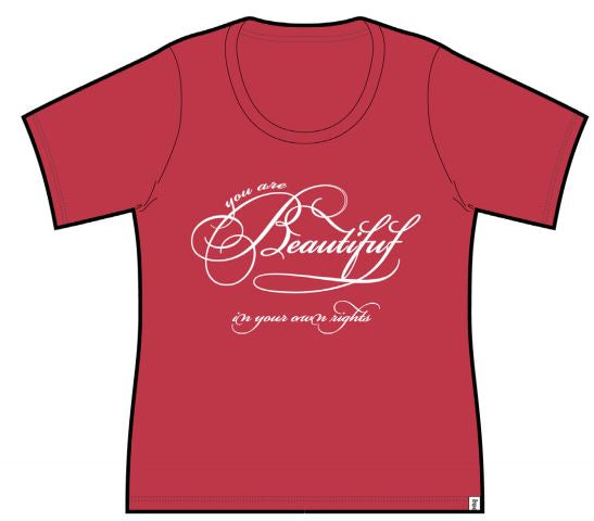 Beautiful Ladies Short Sleeve Tee Red